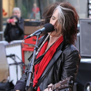 Joe Perry, Aerosmith in Aerosmith Performing Live During The Today Show Concert Series