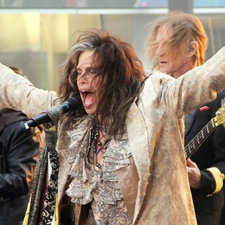 Brad Whitford, Steven Tyler, Tom Hamilton, Aerosmith in Aerosmith Performing Live During The Today Show Concert Series