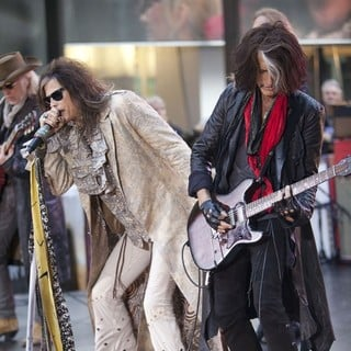 Brad Whitford, Steven Tyler, Joe Perry, Aerosmith in Aerosmith Performing Live During The Today Show Concert Series