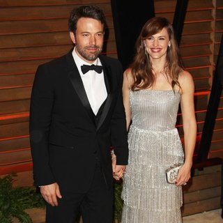 Ben Affleck, Jennifer Garner in 2014 Vanity Fair Oscar Party