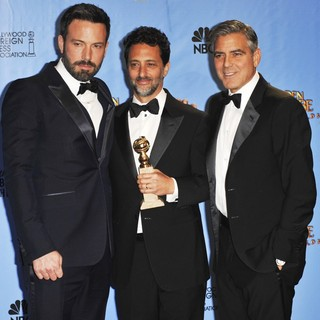 Ben Affleck, Grant Heslov, George Clooney in 70th Annual Golden Globe Awards - Press Room