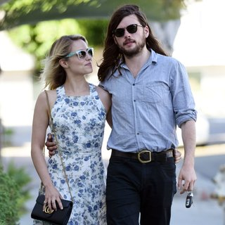 Dianna Agron and Winston Marshall Spotted Leaving Gratitude Cafe
