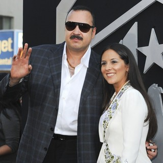 Pepe Aguilar, Anelisse  Aguilar in Los Angeles Premiere of Pacific Rim