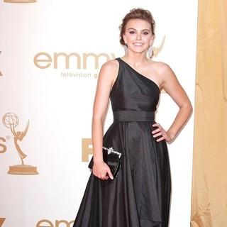 Aimee Teegarden in The 63rd Primetime Emmy Awards - Arrivals