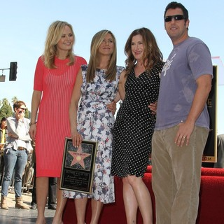 Malin Akerman, Jennifer Aniston, Kathryn Hahn, Adam Sandler in Jennifer Aniston Is Honored with A Star on The Hollywood Walk of Fame