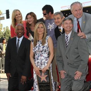 Malin Akerman, Kathryn Hahn, Jennifer Aniston, Adam Sandler, Leron Gubler, Tom LaBonge in Jennifer Aniston Is Honored with A Star on The Hollywood Walk of Fame
