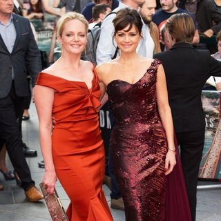 Malin Akerman, Carla Gugino in The World Premiere of San Andreas - Arrivals