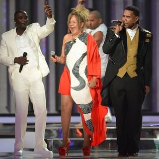 Akon, Loalwa Braz, Don Omar in Billboard Latin Music Awards 2012 - Show