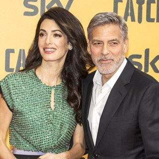 Amal Alamuddin, George Clooney in The Premiere of Catch-22
