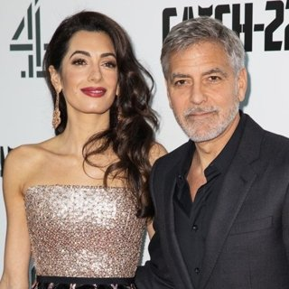 Amal Alamuddin, George Clooney in The UK Premiere of Catch-22 - Arrivals