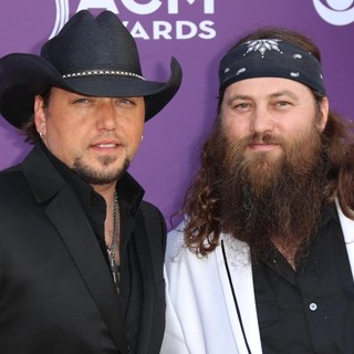 Jason Aldean, Willie Robertson in 48th Annual ACM Awards - Arrivals