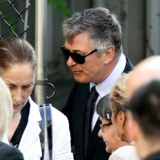 Alec Baldwin in The Funeral Service for Actor James Gandolfini