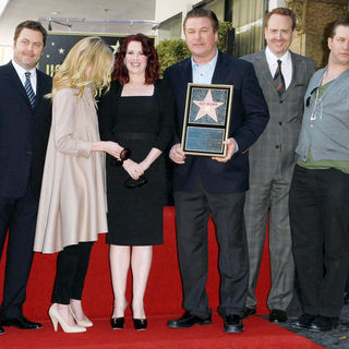 Anne Heche, Stephen Baldwin, Alec Baldwin, Megan Mullally in Alec Baldwin Hollywood Walk of Fame Induction Ceremony