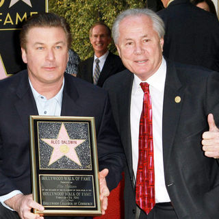 Alec Baldwin, Tom LaBonge in Alec Baldwin Hollywood Walk of Fame Induction Ceremony