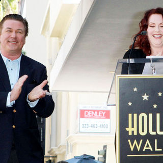 Alec Baldwin, Megan Mullally in Alec Baldwin Hollywood Walk of Fame Induction Ceremony