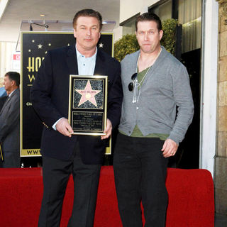 Alec Baldwin, Stephen Baldwin in Alec Baldwin Hollywood Walk of Fame Induction Ceremony