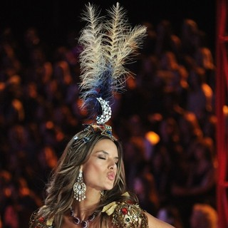 Alessandra Ambrosio in The 2012 Victoria's Secret Fashion Show - Inside