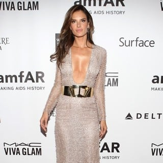 Alessandra Ambrosio in 2013 amfAR Inspiration Gala Los Angeles Presented by MAC Viva Glam