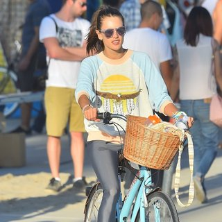 Alessandra Ambrosio and Her Family Head Out for A Bike Ride