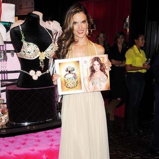 Alessandra Ambrosio in Alessandra Ambrosio Reveals The Floral Fantasy Bra Designed by London Jewelers