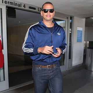 Alex Rodriguez - Alex Rodriguez Arrives at Los Angeles International Airport