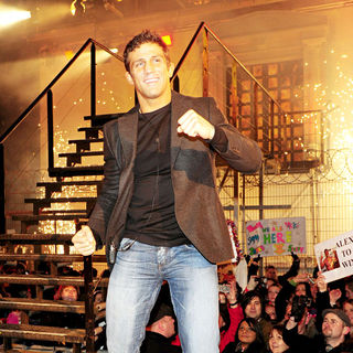 Alex Reid celebrating his win of Celebrity Big Brother - alex_reid_winner_05_wenn5422981