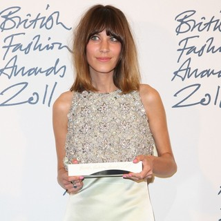 Alexa Chung in British Fashion Awards 2011 - Press Room