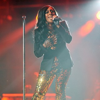 Alexandra Burke in Michael Jackson Tribute Concert Held at The Cardiff Millenium Stadium