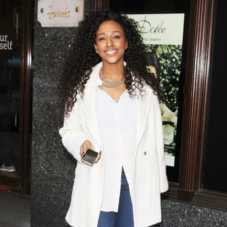 Alexandra Burke Spotted Shopping at Harrods