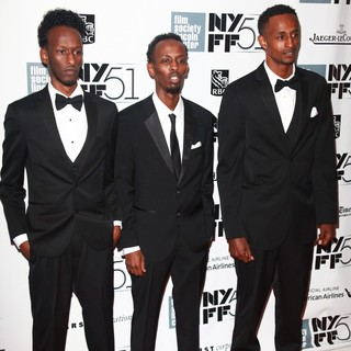 Mahat M. Ali, Barkhad Abdi, Faysal Ahmed in The 51st New York Film Festival - Captain Phillips World Premiere - Red Carpet Arrivals