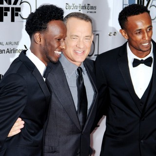 Mahat M. Ali, Tom Hanks, Faysal Ahmed in The 51st New York Film Festival - Captain Phillips World Premiere - Red Carpet Arrivals