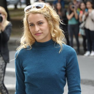 Alice Dellal in Paris Fashion Week Haute Couture Fall-Winter 2014-2015 - Chanel - Outside Arrivals