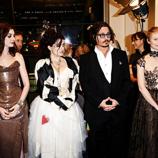 Anne Hathaway, Helena Bonham Carter, Johnny Depp, Mia Wasikowska in 'Alice in Wonderland' UK Premiere - Arrivals
