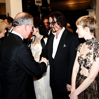Prince Charles, Camilla Parker Bowles, Johnny Depp, Mia Wasikowska in 'Alice in Wonderland' UK Premiere - Arrivals