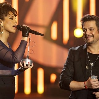 Alicia Keys, Alejandro Sanz in The 2013 40 Principales Awards - Show