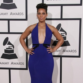 Alicia Keys in The 56th Annual GRAMMY Awards - Arrivals