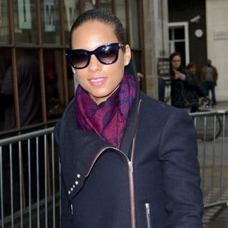 Alicia Keys in Alicia Keys Outside The BBC Radio 1 Studios