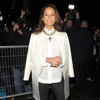 Alicia Keys in Paris Fashion Week Autumn-Winter 2012 - Givenchy - Departures