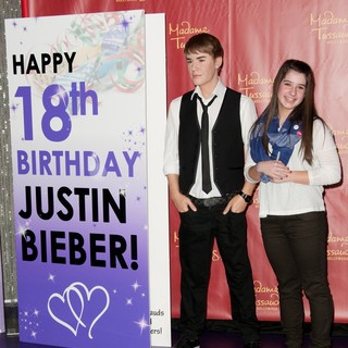 Justin Bieber, Alisha Purdom in Unveil A Brand New Bieber Figure in Celebration of The Singer's 18th Birthday