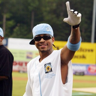 Allen Iverson in 2007 Celebrity Softball Game