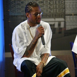 Allen Iverson in Allen Iverson held A Press Conference for His Annual Charity Event to Raise Money