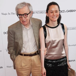 Woody Allen, Soon-Yi Previn in New York Premiere of Magic in the Moonlight - Arrivals