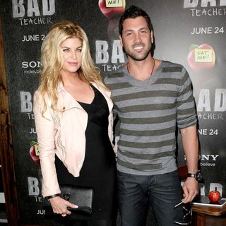 Kirstie Alley, Maksim Chmerkovskiy in World Premiere of Bad Teacher - Arrivals