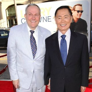 Brad Altman, George Takei in Larry Crowne Los Angeles Premiere
