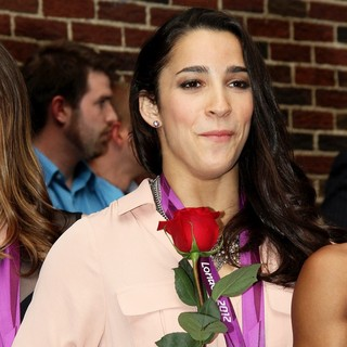 Aly Raisman in Celebrities Arrive for The Late Show with David Letterman