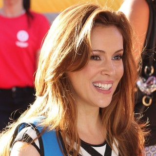 Alyssa Milano in Los Angeles Premiere of Disney's Planes