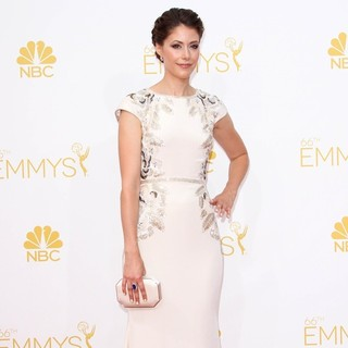 Amanda Crew in 66th Primetime Emmy Awards - Press Room