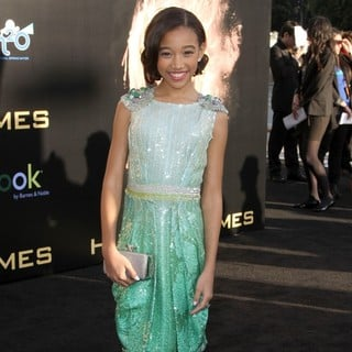 Amandla Stenberg in Los Angeles Premiere of The Hunger Games - Arrivals