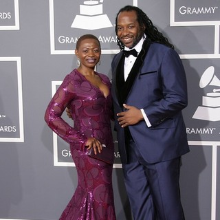 Evelyn Ambe, James McKinney in 55th Annual GRAMMY Awards - Arrivals