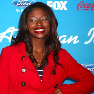 Amber Holcomb in FOX's American Idol Finalists Party